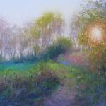 pastel landscape painting